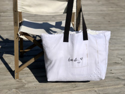 "Large cotton tote  ""Love..."