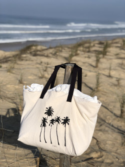 """Large cotton tote """"Palm trees"""""""