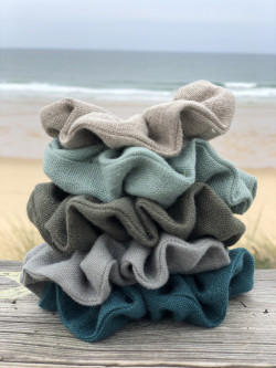 Large linen scrunchie